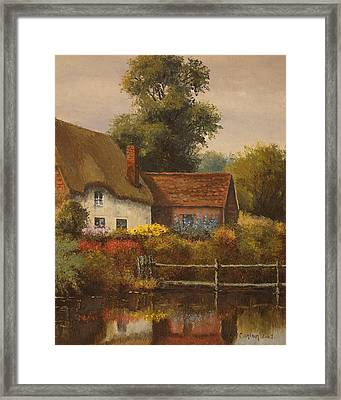 The Country Cottage Framed Print by Sean Conlon