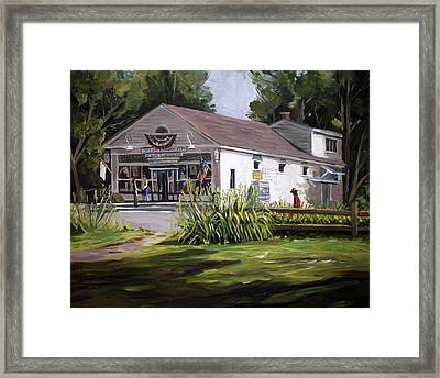 The Country Store Framed Print by Nancy Griswold