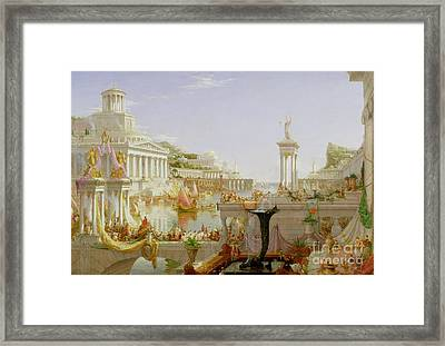 The Course Of Empire - The Consummation Of The Empire Framed Print by Thomas Cole