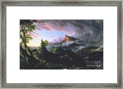 The Course Of Empire - The Savage State Framed Print by Thomas Cole