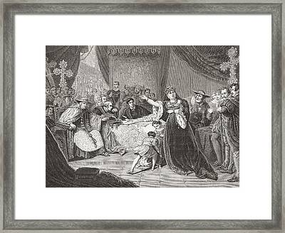 The Court For The Trial Of Queen Framed Print by Vintage Design Pics