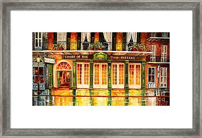 The Court Of Two Sisters On Royal Framed Print by Diane Millsap