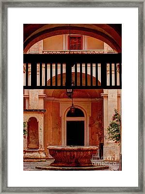 The Court Yard Malta Framed Print by Tom Prendergast