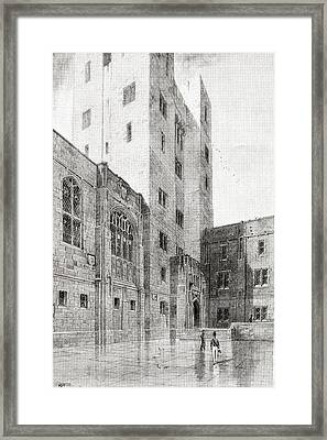 The Courtyard Of Post Headquarters At Framed Print by Vintage Design Pics