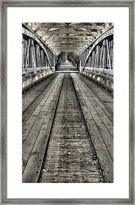The Covered Bridge Framed Print by JC Findley