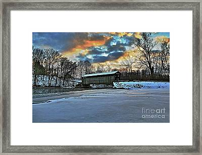 The Covered Bridge Framed Print by Robert Pearson