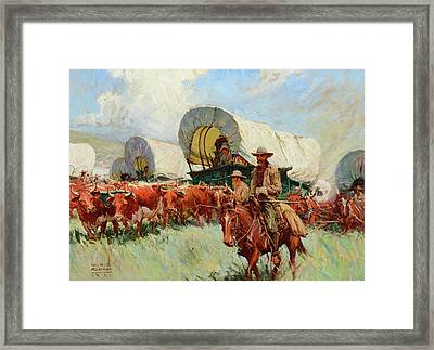 The Covered Wagon Framed Print by Koerner