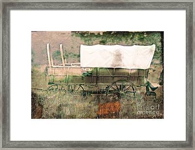 The Covered Wagon  Framed Print by Steven  Digman