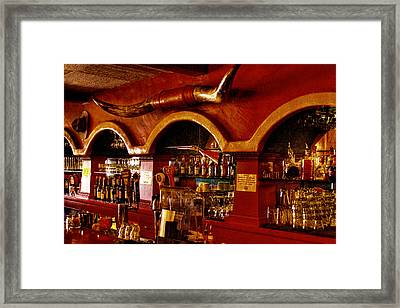 The Cowboy Club Bar In Sedona Arizona Framed Print by David Patterson