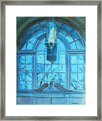 The Craftsmen Lantern Framed Print by Jenny Armitage