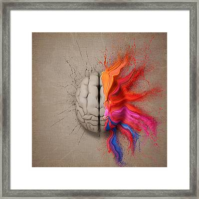 The Creative Brain Framed Print by Johan Swanepoel