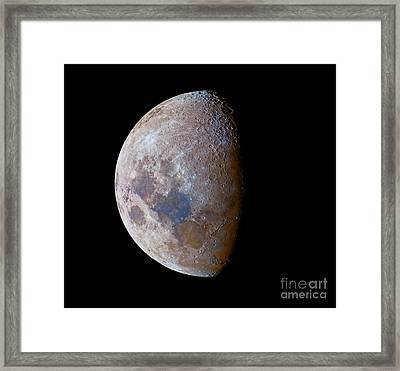 The Crescent Moon Past First Quarter Framed Print by Luis Argerich