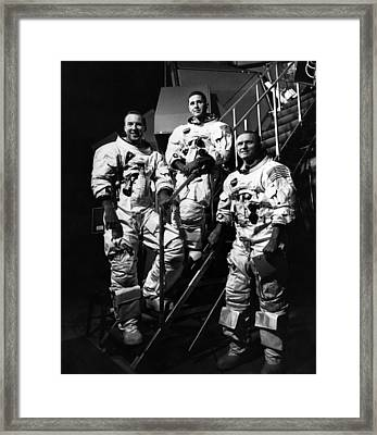 The Crew For The Apollo 8 Spacecraft Framed Print by Everett