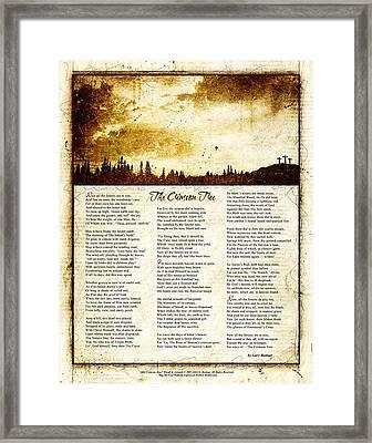 The Crimson Tree Poem Framed Print by Gary Bodnar