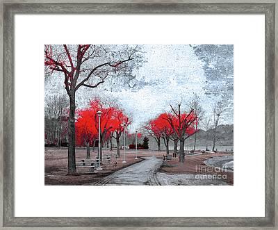The Crimson Trees Framed Print by Tara Turner