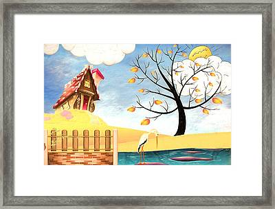 The Crooked House Framed Print by L Wright