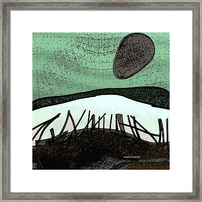 The Crooked Moon Framed Print by Lenore Senior