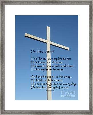 The Cross Framed Print by MaryJane Armstrong
