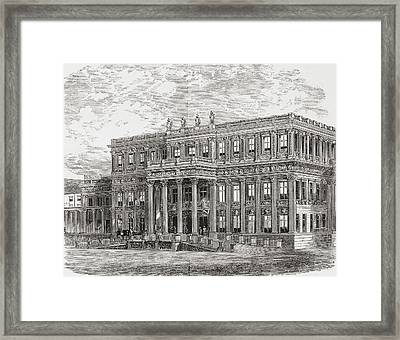 The Crown Prince Palace Aka Framed Print by Vintage Design Pics