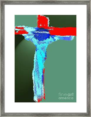 The Crucifixion Framed Print by Mimo Krouzian