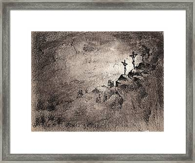 The Crucifixion Framed Print by Rachel Christine Nowicki