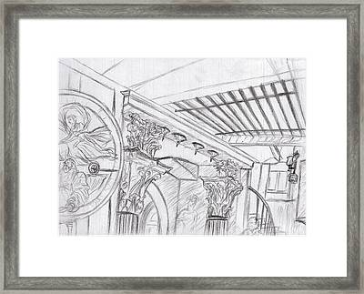 The Crypt At The Soane Museum Framed Print by Arter