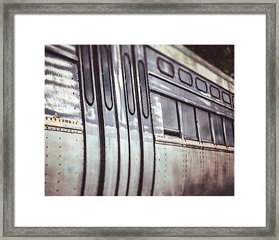 The Cta Train Framed Print by Lisa Russo