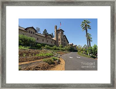 The Culinary Institute Of America Greystone St Helena Napa California Dsc1694 Framed Print by Wingsdomain Art and Photography