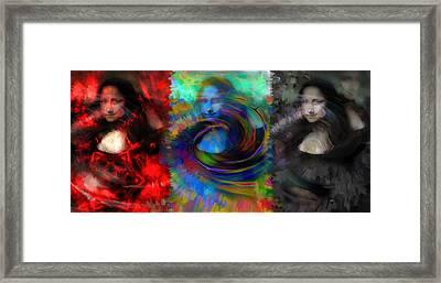 The Da Vinci Trinity Framed Print by Daniel  Arrhakis