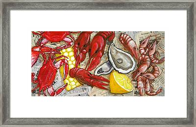 The Daily Seafood Framed Print by JoAnn Wheeler