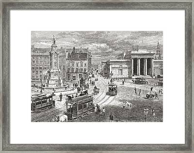 The Dam, Amsterdam, The Netherlands In Framed Print by Vintage Design Pics