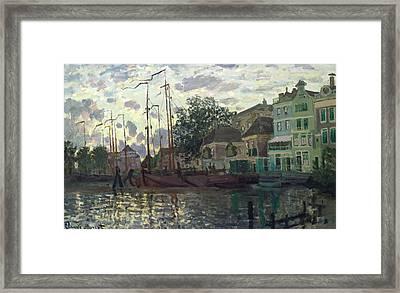 The Dam At Zaandam Framed Print by Claude Monet