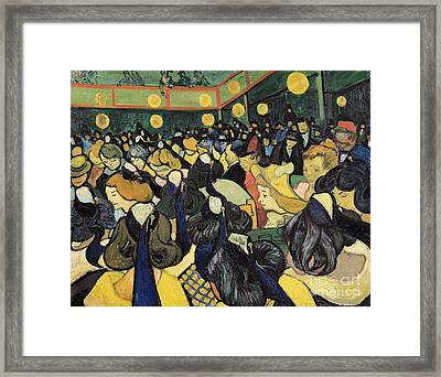 The Dance Hall At Arles Framed Print by Vincent Van Gogh