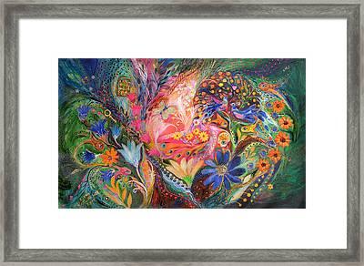 The Dance Of Flowers Framed Print by Elena Kotliarker