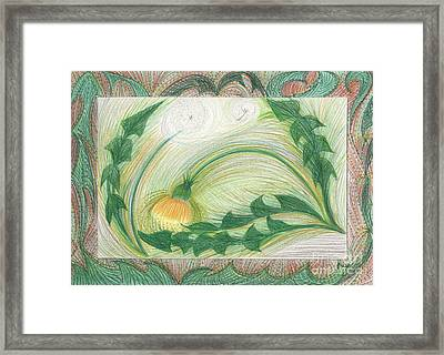 The Dandelion By Jrr Framed Print by First Star Art