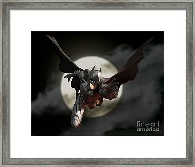 The Dark Knight Framed Print by Paul Tagliamonte
