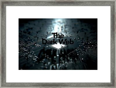 The Dark Web Concept Framed Print by Allan Swart