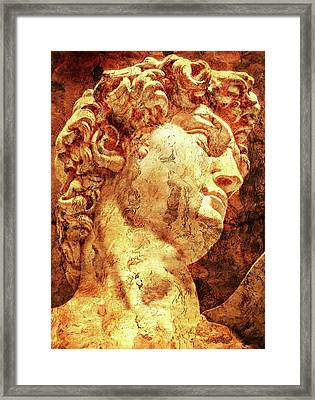 The David By Michelangelo Framed Print by Jose Espinoza