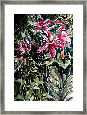 The Day Lilies Framed Print by Mindy Newman