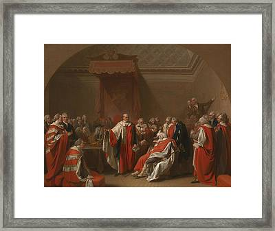 The Death Of Chatham Framed Print by Benjamin West