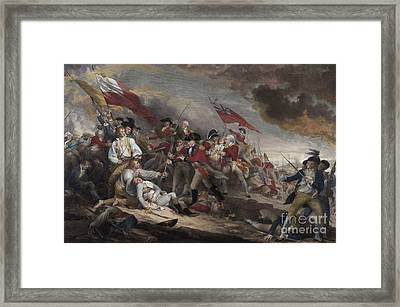 The Death Of General Warren At The Battle Of Bunker Hill, 17th June 1775 Framed Print by John Trumbull