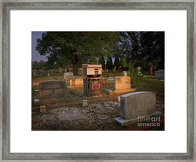 The Death Of Oil Framed Print by Warren Sarle