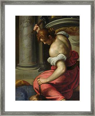 The Death Of Sisera Framed Print by Palma Il Giovane