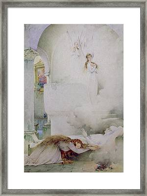 The Death Of The Virgin Framed Print by Guillaume Dubufe