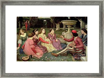 The Decameron Framed Print by John William Waterhouse