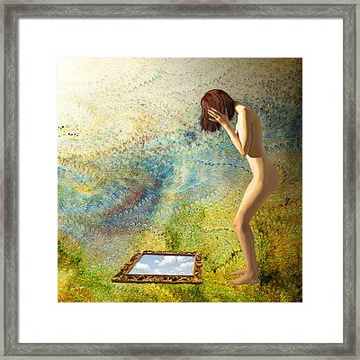 The Deception Of Mirrors Framed Print by Van Renselar