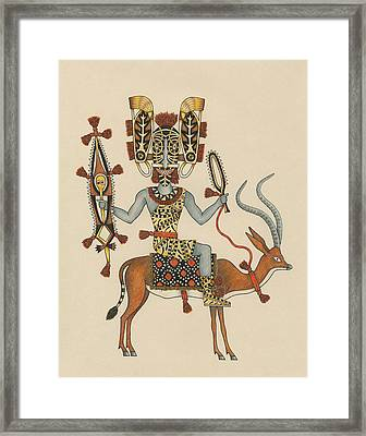 Decorated Rider Of The Gazelle Cavalry Framed Print by Matt Leines