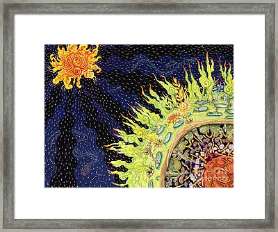 The Deep Framed Print by Shoshanah Dubiner