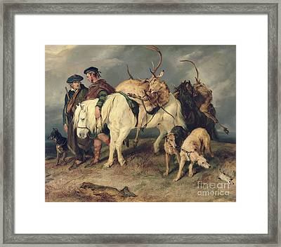 The Deerstalkers Return Framed Print by Sir Edwin Landseer