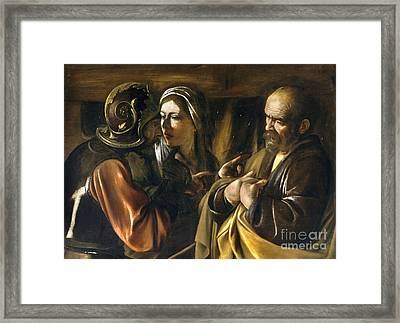 The Denial Of Saint Peter Framed Print by MotionAge Designs